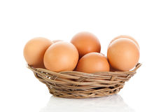 Eggs isolatedon white background food Stock Image