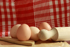 Eggs in the kitchen Stock Photography