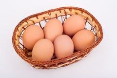 Eggs Korb Stockfotografie