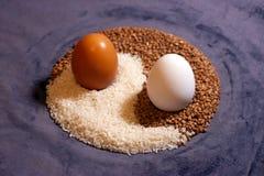 Eggs l'yin yang fotografie stock libere da diritti
