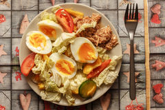 Eggs la cena Foto de archivo