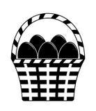 Eggs la merce nel carrello illustrazione vettoriale