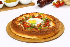 Eggs la pizza photos stock