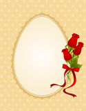 Eggs with lace ornaments Royalty Free Stock Photography
