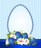 Eggs with lace ornaments and flowers Royalty Free Stock Photos