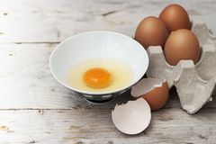 Eggs with large, bright red eggs, non-toxic royalty free stock photo