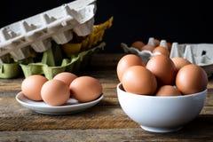 Eggs le scatole metalliche fotografia stock