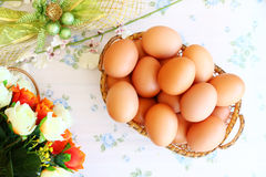 Eggs le vieux style de vintage Photo stock