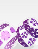 Eggs with lilac floral pattern Royalty Free Stock Photography