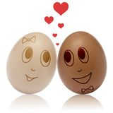 Eggs in love Royalty Free Stock Images