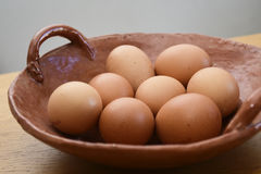 Eggs. Many eggs in a ceramic plate Stock Photo