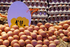 Eggs in the market Stock Photo