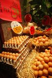 Eggs in a market Stock Image