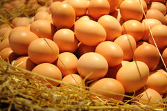 Eggs at market Royalty Free Stock Images
