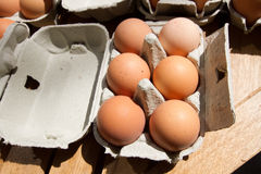 Eggs at market Stock Photo
