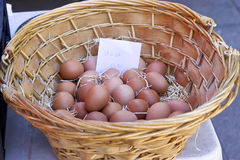 Eggs at market in italy Royalty Free Stock Photo
