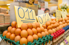Eggs in a market, Quito, Ecuador Stock Image