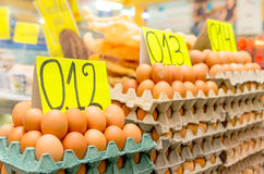 Eggs in a market, Quito, Ecuador Stock Photos