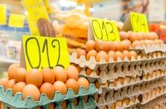 Eggs in a market, Quito, Ecuador Stock Photos