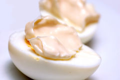 Eggs with mayonnaise Royalty Free Stock Image