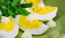 Eggs with mayonnaise Royalty Free Stock Photos