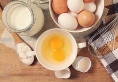 Eggs and meal Royalty Free Stock Photos