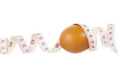 Eggs measure Stock Photography