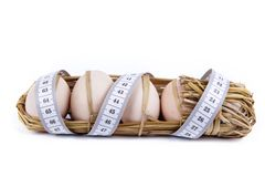 Eggs with meter Royalty Free Stock Photography