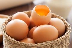 Eggs, milk and flour Stock Photos