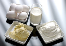 Eggs, Milk and Ice Royalty Free Stock Photo