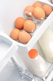 Eggs and milk Royalty Free Stock Photo