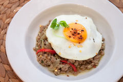 Eggs with minced meat Royalty Free Stock Image