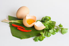Eggs mix chilli vegetable Stock Image