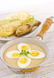 Eggs in mustard sauce Royalty Free Stock Image
