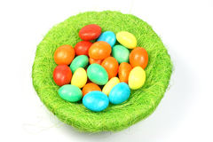 Eggs in the nest Stock Image