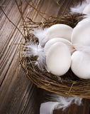 Eggs in the Nest. Close-up Image. Easter Concept Royalty Free Stock Photography