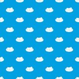 Eggs in the nest pattern seamless blue Stock Photos
