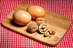 Eggs and nuts Royalty Free Stock Photo