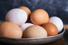 Eggs o close-up Fotos de Stock Royalty Free