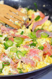 Eggs Omelet with Ham royalty free stock photography