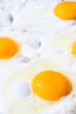 Eggs On A Frying Pan Stock Images