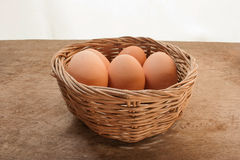 Eggs in one basket Royalty Free Stock Photography