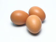 eggs organique Aliment biologique en Thaïlande Fond blanc Photo libre de droits