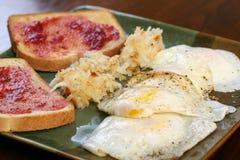 Eggs over easy Stock Photos