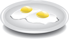 Eggs over easy Royalty Free Stock Photo