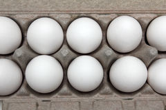 Eggs in pack Royalty Free Stock Photos