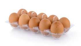 Eggs in pack Royalty Free Stock Images