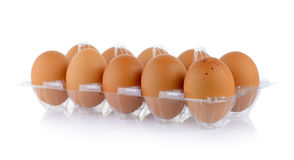 Eggs in pack Royalty Free Stock Image