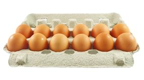 Eggs package Royalty Free Stock Images