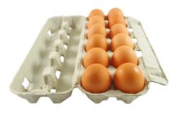 Eggs package Royalty Free Stock Image